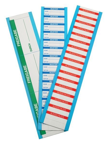 Zugelassen - Etiketten auf Karten, beschriftbar - Qualitätsaufkleber und farbige Klebeetiketten