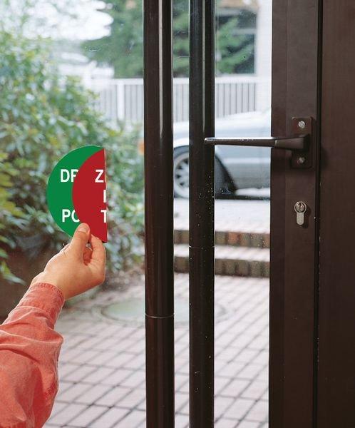 Notausgang/Kein Eingang - Tür- und Fensterschilder, doppelseitig - Ziehen / Drücken und Vogelaufkleber