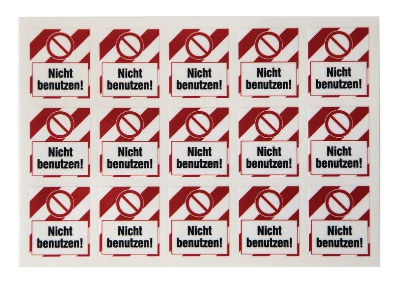 Ventil nicht öffnen! – Lockout-Sticker für Schlösser, auf Bogen