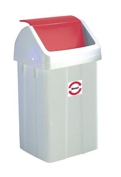 Abfallbehälter mit farbigem Schwing-Deckel