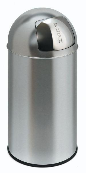 ECO Abfallbehälter Push aus Edelstahl