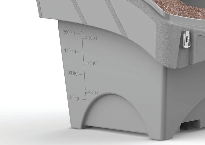 Streugutbehälter-Set - Streusalz und Streuwagen
