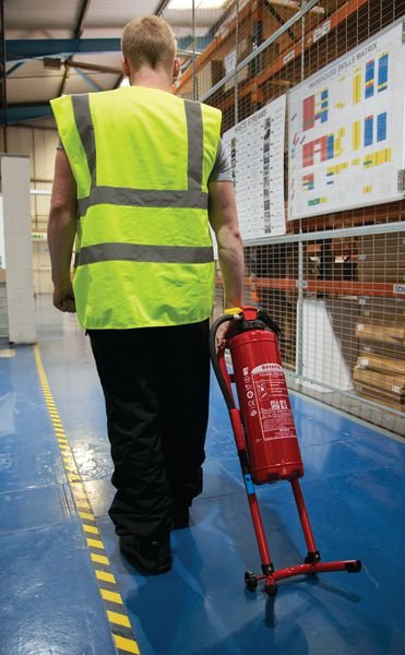 Fußständer für Feuerlöscher, mobil