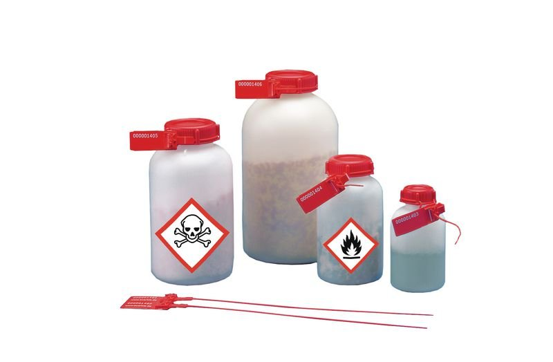 Kunststoffplombe für Universal-Weithalsflaschen, plombierbar - Laborflaschen und -zubehör