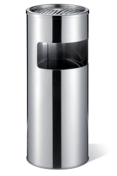 DURABLE Design Abfallbehälter mit Ascher, Edelstahl