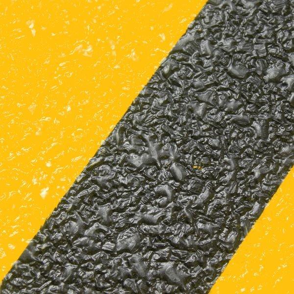 Warnung vor einer Gefahrenstelle - Antirutsch-Bodenmarkierer, DIN 4844 - Bodenmarkierung
