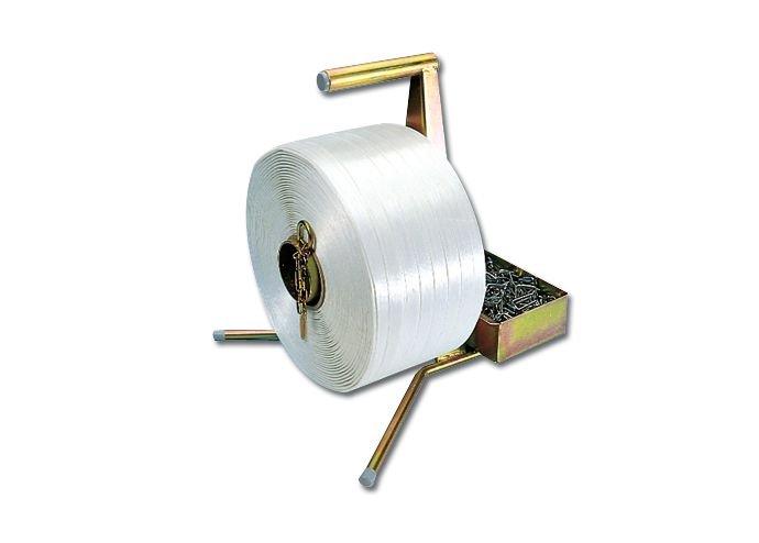 Umreifungsbänder aus Polyester, mit Abroller