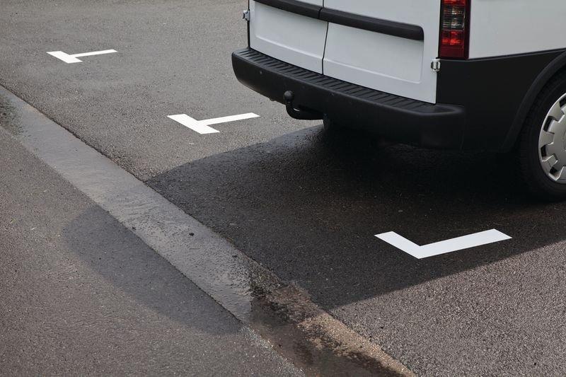 Asphaltfolien für Parkplatzflächen, T-Form