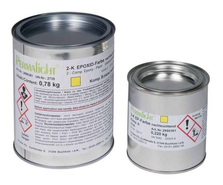 Epoxid-Nachleuchtfarbe und -Schutzlack, langnachleuchtend, DIN 67510