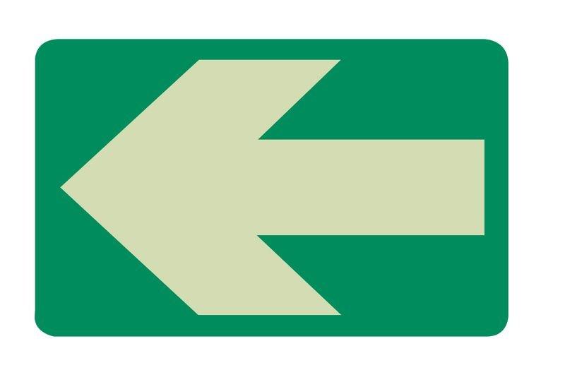 Everglow® Bodenmarkierungspfeile, rechteckig - Fluchtwegkennzeichnung, bodennah, langnachleuchtend, ASR A3.4/3