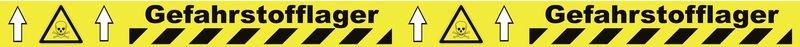 Warnung vor giftigen Stoffen - Bodenmarkierbänder für Gefahrstofflager, staplergeeignet