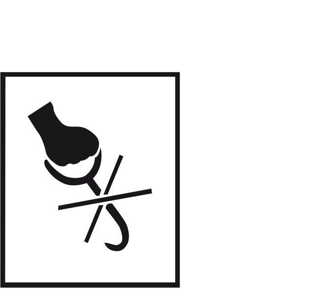 Handhaken verboten – Versandgut-Markierschablonen