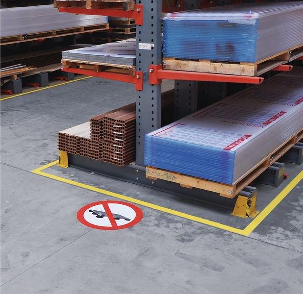 Abstellen oder Lagern verboten - Verbotszeichen zur Bodenmarkierung