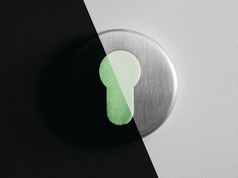 Everglow® Türschlossmarkierung - Fluchtwegkennzeichnung, bodennah, langnachleuchtend, ASR A3.4/3 - Fluchtwegmarkierung, Boden-Fluchtwegkennzeichnung