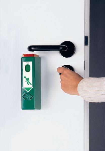Einhand-Türwächter mit Voralarm, DIN EN 179, DIN EN 1125