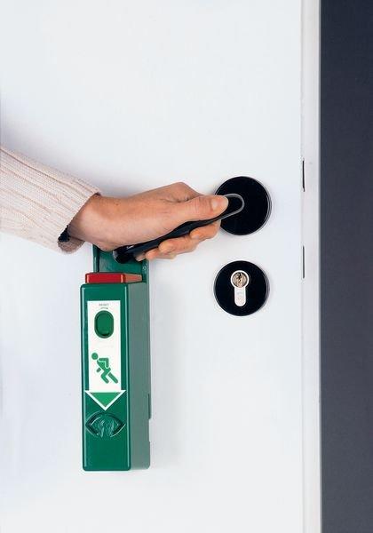 Einhand-Türwächter mit Voralarm, DIN EN 179, DIN EN 1125 - Brandschutz