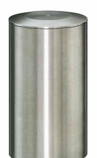 Edelstahl-Absperrpfosten mit Flachkopf