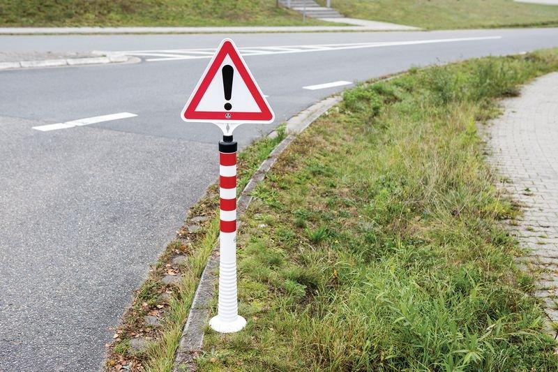 Verbot der Einfahrt – Verkehrszeichen für ECO Leitpfosten-Schilderhalter - Absperrpfosten und Absperrketten