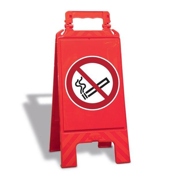 Rauchen verboten - Warnaufsteller mit Sicherheitssymbolen, ASR A1.3-2013, DIN EN ISO 7010