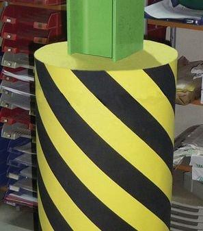 Flächenschutz aus Hartschaumstoff, trapezförmig - Kantenschutzprofile
