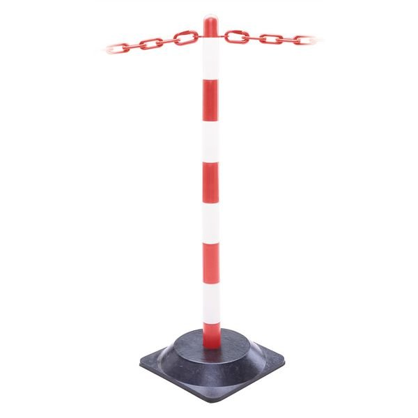 Kunststoff-Sperrpfosten-Set mit Gummifuß