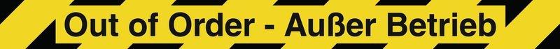 Out of Order - Außer Betrieb – Absperr-System Popular mit Gurtbändern