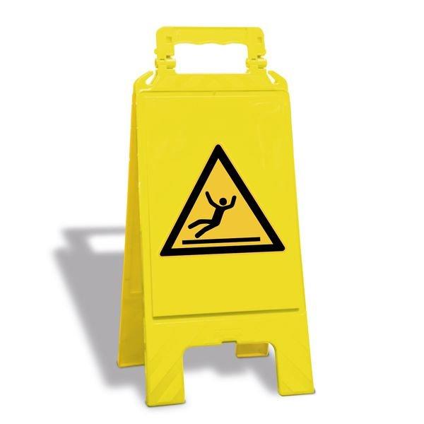 Warnung vor Rutschgefahr - Warnaufsteller mit Sicherheitssymbolen, ASR A1.3-2013, DIN EN ISO 7010