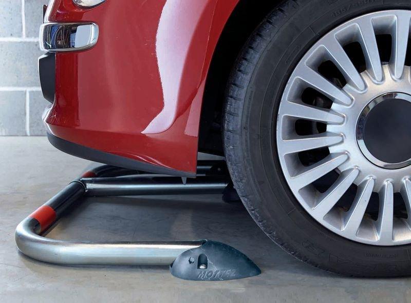 Rund-Parkbügel mit Polypropylen-Fußplatte