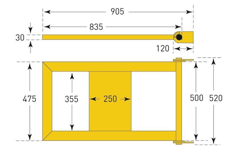 Tür für Rammschutz-Geländer für Laufwege - Rammschutz