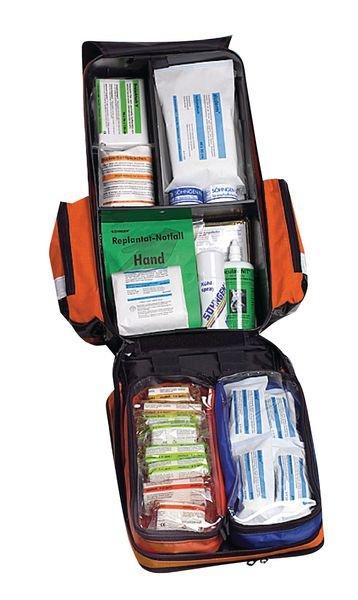 Ersthelfer-Sanitätsrucksäcke, gefüllt, DIN 13157