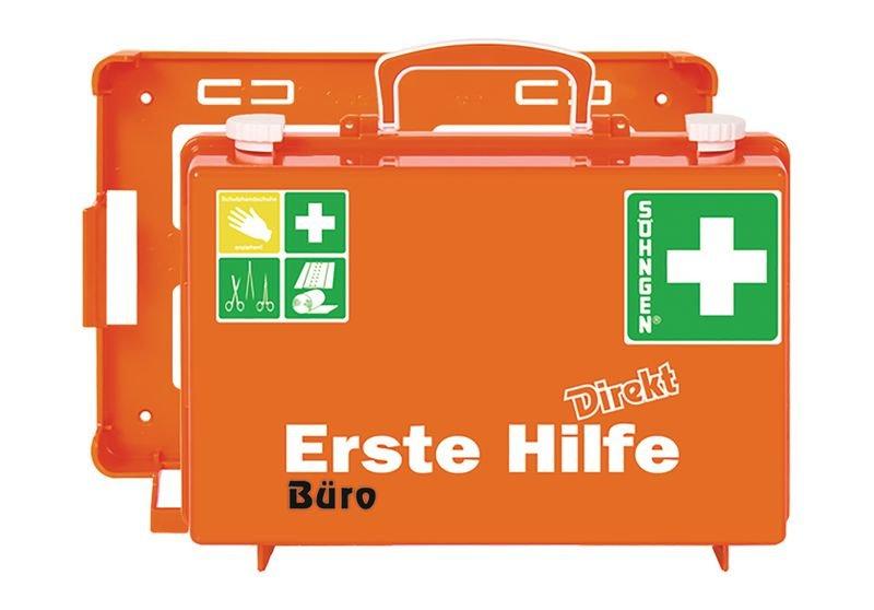 SÖHNGEN Erste-Hilfe-Koffer Direkt - für Büro mit Text nach Wunsch, DIN 13157