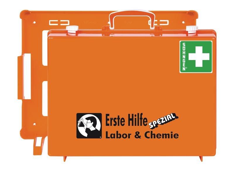 SÖHNGEN Erste-Hilfe-Koffer Spezial und Nachfüllpackungen für Labor und Chemie, DIN 13157