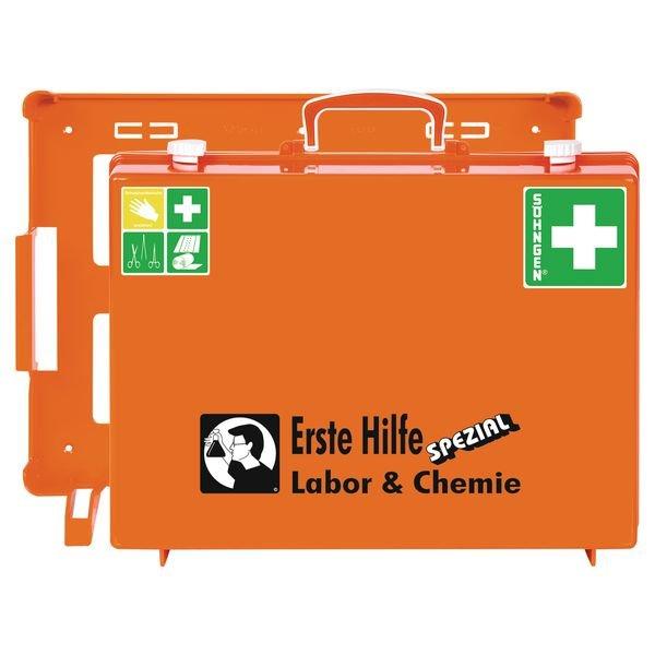 SÖHNGEN Erste-Hilfe-Koffer Spezial und Nachfüllpackungen für Labor und Chemie, ÖNORM Z1020 Typ 1
