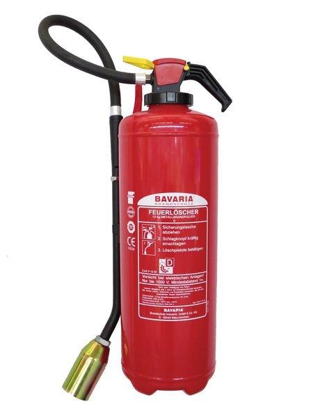 Pulver-Aufladelöscher, Brandklasse D, DIN EN 3