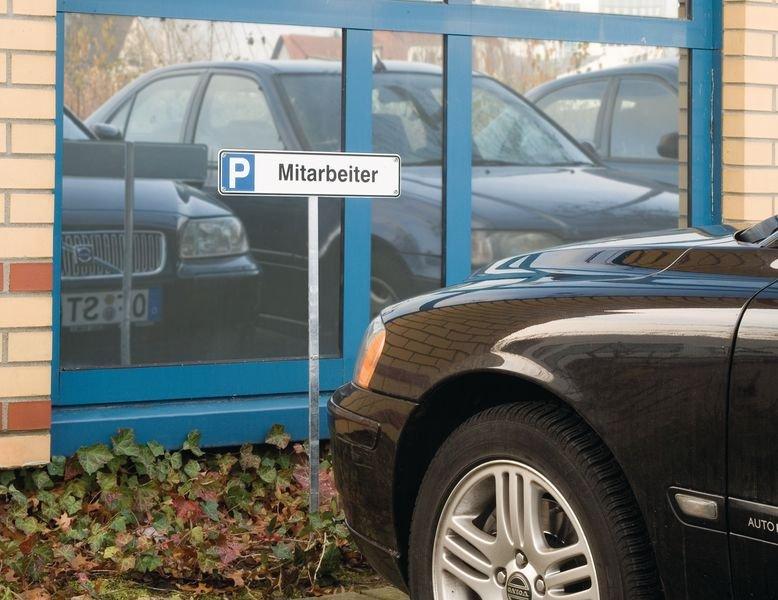 Behindertensymbol - STANDARD Parkplatz-Reservierungsschilder, Aluminium