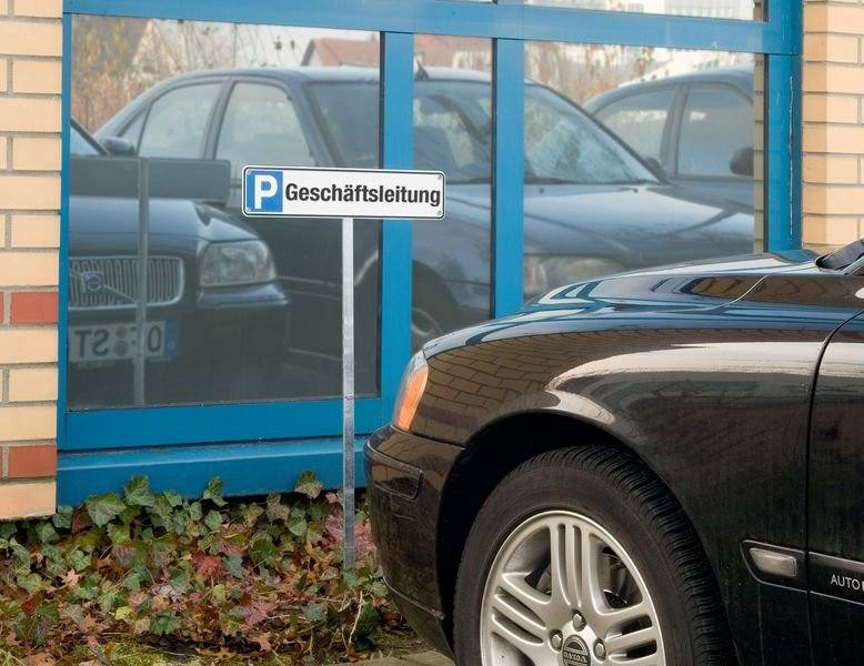 Geschäftsleitung - STANDARD Parkplatz-Reservierungsschilder, Aluminium
