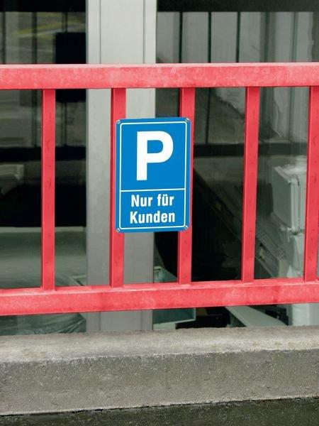 Parken nur für Kunden - PREMIUM Parkgebotsschilder, vandalismussicher - Parkschilder