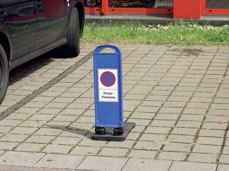Haltverbot Privatparkplatz – Parkbaken, mobil - Parkplatzmarkierung