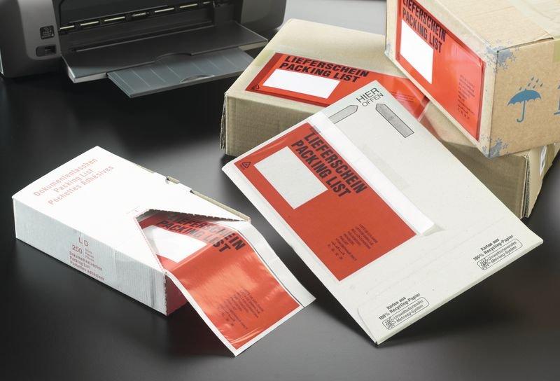 Selbstklebetaschen für Versandpapiere, Großmengen, Dokumente - Versandmaterialien
