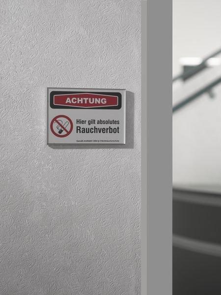 Achtung - absolutes Rauchverbot - SIGN Focus-Schilder Nichtraucherschutz - Hinweisschilder zur Betriebskennzeichnung