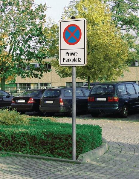 Privatparkplatz/eingeschränktes Haltverbot - PREMIUM Parkverbotsschilder, profilrandverstärkt