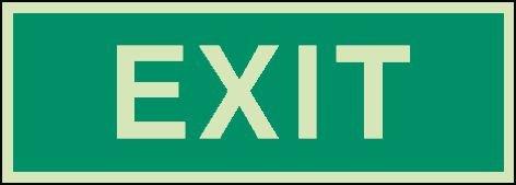 EXIT - Internationale Rettungs- und Brandschutzzeichen aus der betrieblichen Praxis, langnachleuchtend