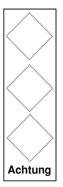 Gefahrstoffsymbol-Grundplaketten mit 3 Symbolen gemäß GHS/CLP-Verordnung