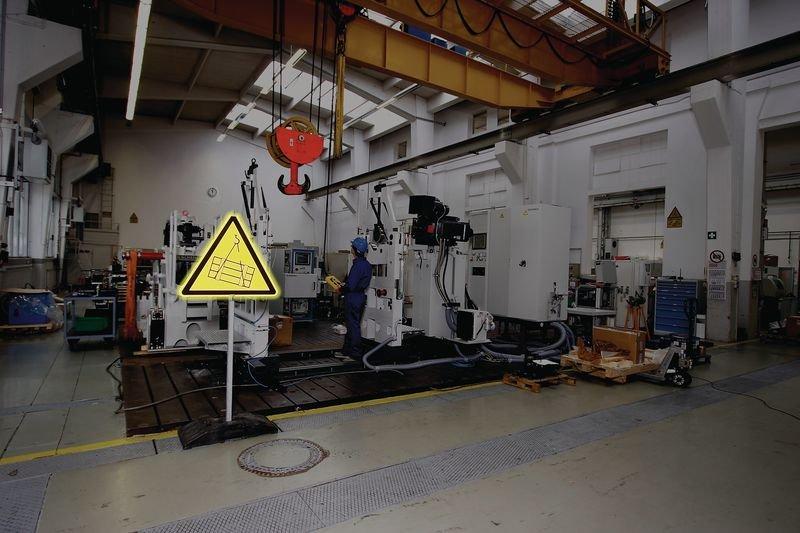 Warnung vor Absturzgefahr - PREMIUM Symbolschilder, massiv, BGV A8, DIN 4844, ASR A1.3