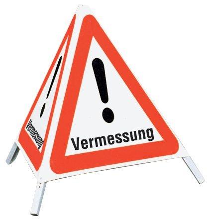 Vermessung - Faltsignale mit Symbol Gefahrstelle