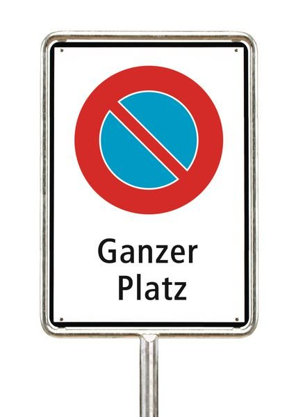 Parkieren verboten auf ganzem Platz - Parkverbotsschilder zum Einsatz in der Schweiz, SSV