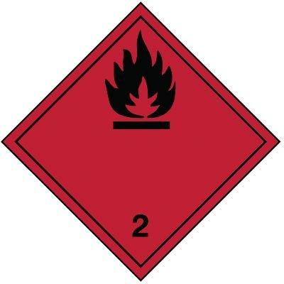Entzündbare Gase 2.1 - Gefahrzettel-Schilder zum Transport von Gefahrgut, Aluminium, ADR, RID, IMO, IATA, GGVSE, IMDG