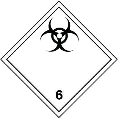 Biologische Gefahr 6.2 - Gefahrzettel-Schilder zum Transport von Gefahrgut, Aluminium, ADR, RID, IMO, IATA, GGVSE, IMDG