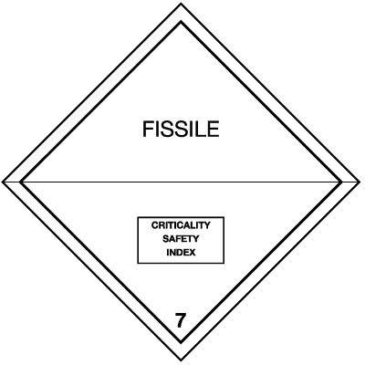 Spaltbare Stoffe 7 - Gefahrzettel-Schilder zum Transport von Gefahrgut, Aluminium, ADR, RID, IMO, IATA, GGVSE, IMDG