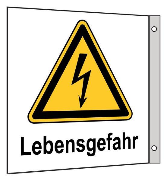 Lebensgefahr - Fahnen- und Winkelschilder, Elektrotechnik